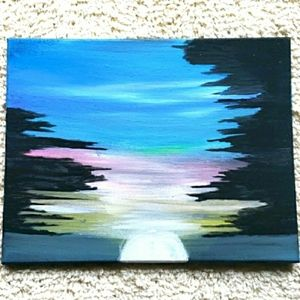 Pastel Sunset by Liz Baggett Canvas Painting